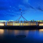 about - parliament house dusk